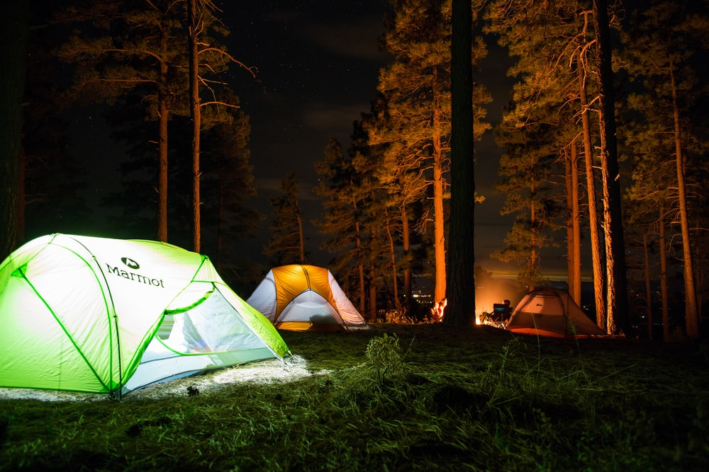 CAMPING TENTS WITH LIGHTS